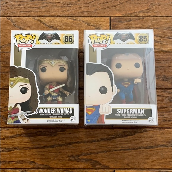 Funko POP! Wonder Woman 86 and Superman 85